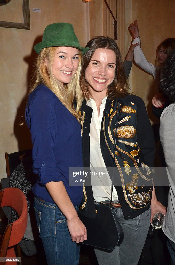 Charlotte Poutrel and Elsa Kikoine attend the 'Speakeasy' Party At The Lefty Bar Restaurant on May 6, 2013 in Paris, France.