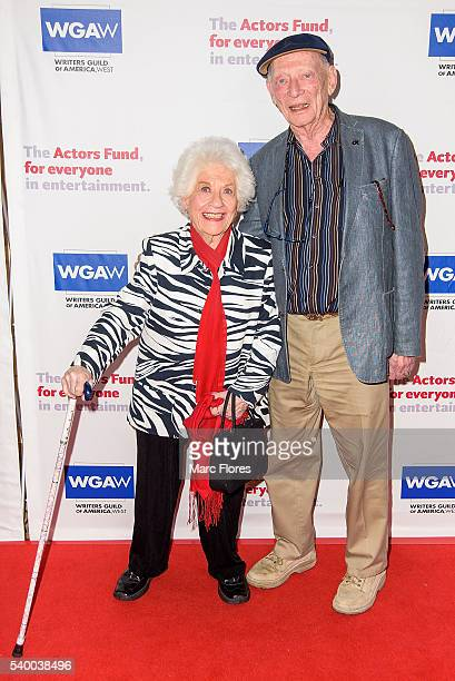 Charlotte Rae and Alan Mandell arrivesa at The Actors Fund's 20th Annual Tony Awards Viewing Party at The Beverly Hilton Hotel on June 12 2016 in...