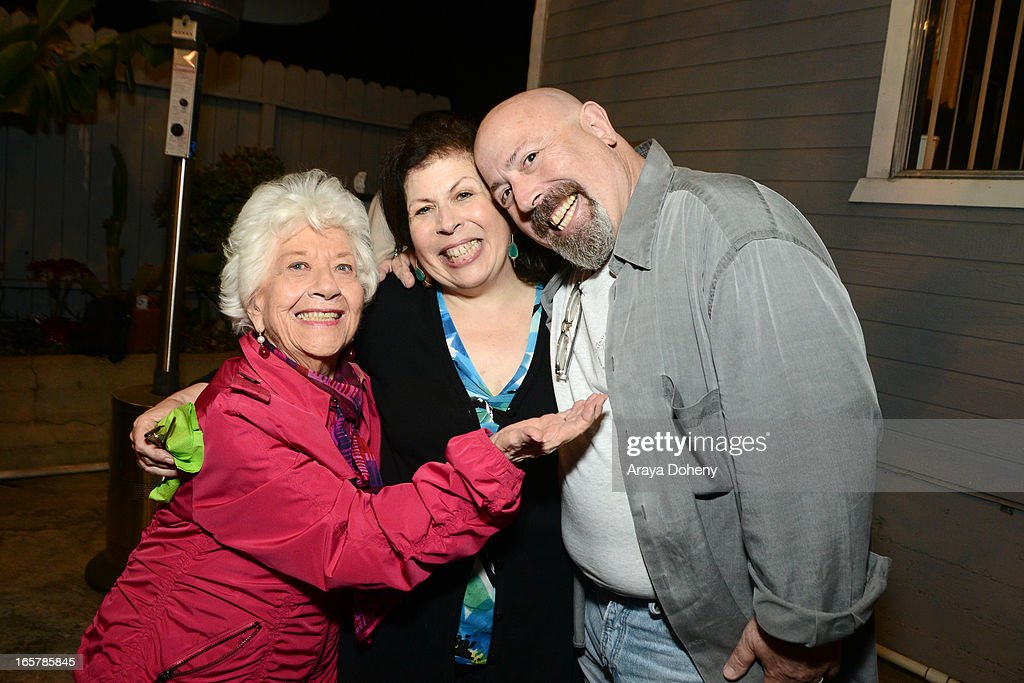 <a gi-track='captionPersonalityLinkClicked' href=/galleries/search?phrase=Charlotte+Rae&family=editorial&specificpeople=757171 ng-click='$event.stopPropagation()'>Charlotte Rae</a> and Winnie Holzman attend the opening night of 'Assisted Living' at The Odyssey Theatre on April 5, 2013 in Los Angeles, California.