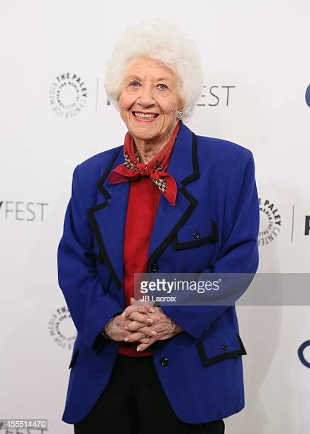 Charlotte Rae attends the 2014 PaleyFestFall TV Previews Fall Flashback 'The Facts Of Life' 35th Anniversary Reunion on September 15 in Beverly Hills...