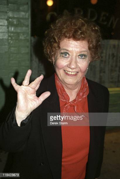 Charlotte Rae during Charlotte Rae Exits the Westside Theater After 'The Vagina Monologues' September 17 2002 at Westside Theater in New York City...