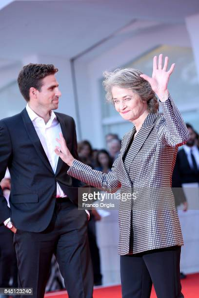Charlotte Rampling and Andrea Pallaoro arrive at the Award Ceremony during the 74th Venice Film Festival at Sala Grande on September 9 2017 in Venice...