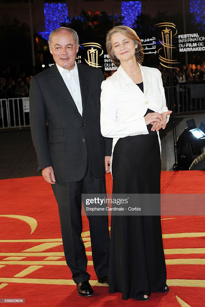 Charlotte Rampling and Guest attend the Tribute to French Cinema during the Marrakech 10th Film Festival.