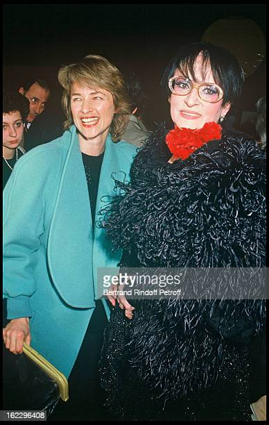 Charlotte Rampling and singer Barbara at 'Lily Passion' opening night at the 'Zenith' Paris