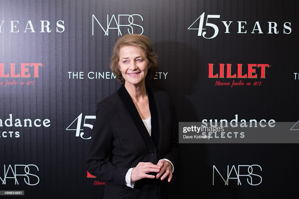 <a gi-track='captionPersonalityLinkClicked' href=/galleries/search?phrase=Charlotte+Rampling&family=editorial&specificpeople=212770 ng-click='$event.stopPropagation()'>Charlotte Rampling</a> attends a screening of Sundance Selects' '45 Years' hosted by The Cinema Society with Lillet and NARS at Landmark Sunshine Cinema on December 3, 2015 in New York City.
