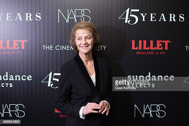 Charlotte Rampling attends a screening of Sundance Selects' '45 Years' hosted by The Cinema Society with Lillet and NARS at Landmark Sunshine Cinema...