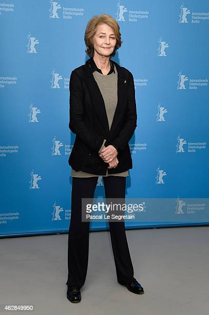 Charlotte Rampling attends the '45 Years' photocall during the 65th Berlinale International Film Festival at Grand Hyatt Hotel on February 6 2015 in...