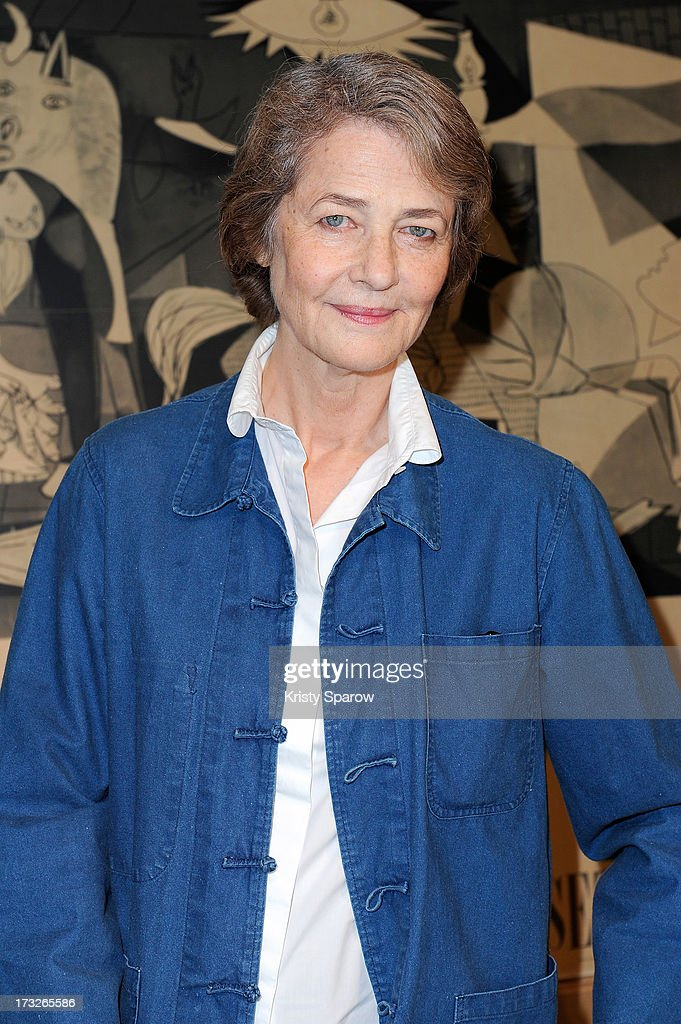 <a gi-track='captionPersonalityLinkClicked' href=/galleries/search?phrase=Charlotte+Rampling&family=editorial&specificpeople=212770 ng-click='$event.stopPropagation()'>Charlotte Rampling</a> attends the CNEA Press Conference Picasso Workshop at Hotel de Savoie on July 11, 2013 in Paris, France.