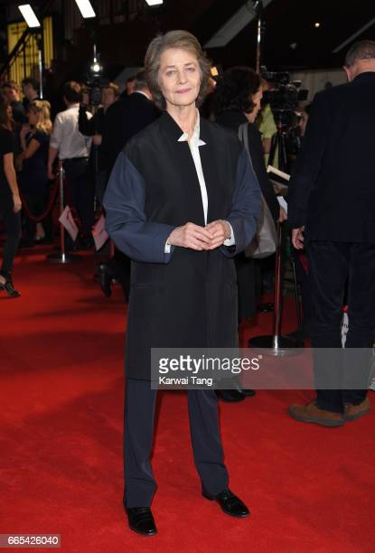 Charlotte Rampling attends the Gala screening of 'The Sense of an Ending' at Picturehouse Central on April 6 2017 in London England