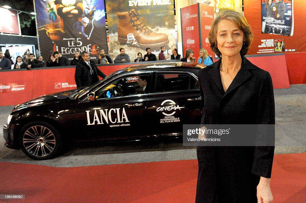 Charlotte Rampling attends the 'Tutto Parla Di Te' premiere during the 7th Rome Film Festival on November 15, 2012 in Rome, Italy.
