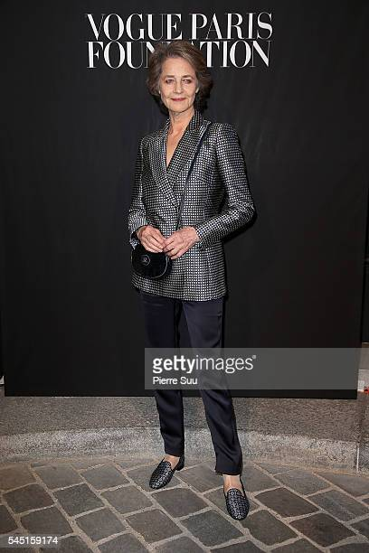 Charlotte Rampling attends the Vogue Foundation Gala 2016 at Palais Galliera on July 5 2016 in Paris France