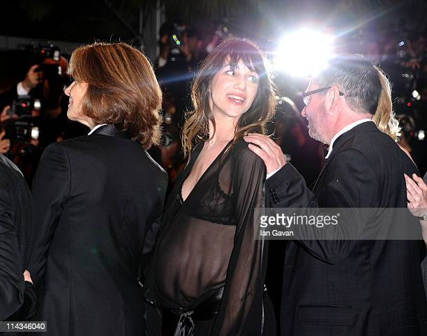 Charlotte Rampling Charlotte Gainsbourg and director Lars Von Trier attend the 'Melancholia' premiere during the 64th Annual Cannes Film Festival at...