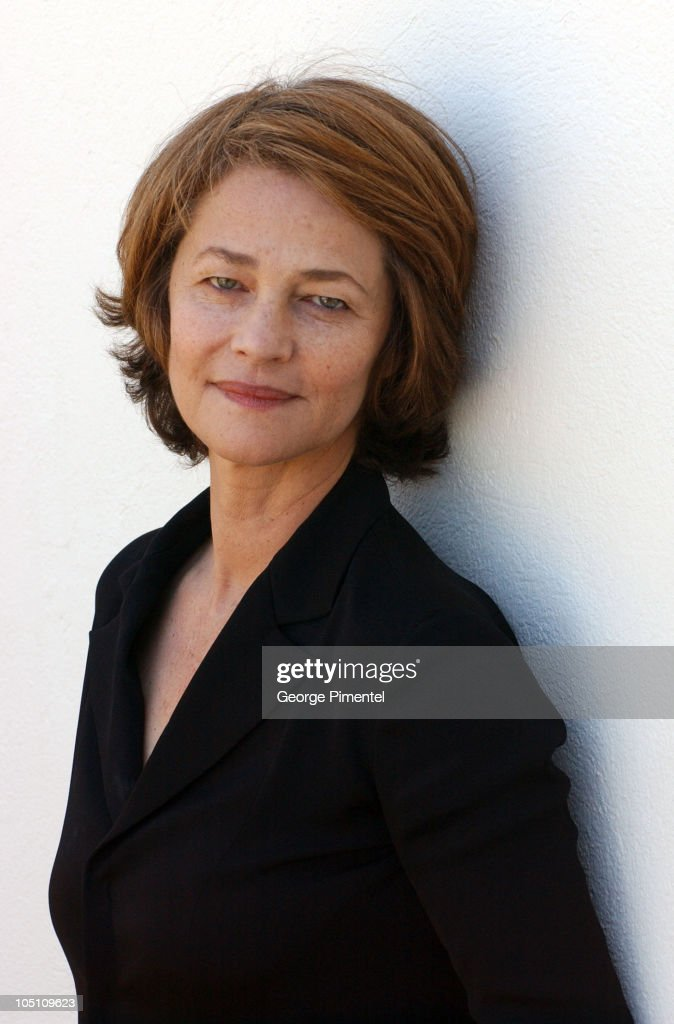 <a gi-track='captionPersonalityLinkClicked' href=/galleries/search?phrase=Charlotte+Rampling&family=editorial&specificpeople=212770 ng-click='$event.stopPropagation()'>Charlotte Rampling</a> during 2003 Cannes Film Festival - 'Swimming Pool' Portraits at Hotel Martinez in Cannes, France.