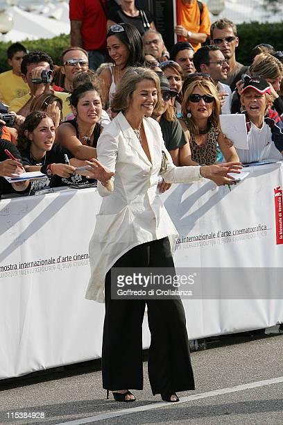 Charlotte Rampling during 2005 Venice Film Festival 'Vers Le Sud' Premiere at Venice Lido in Venice Italy
