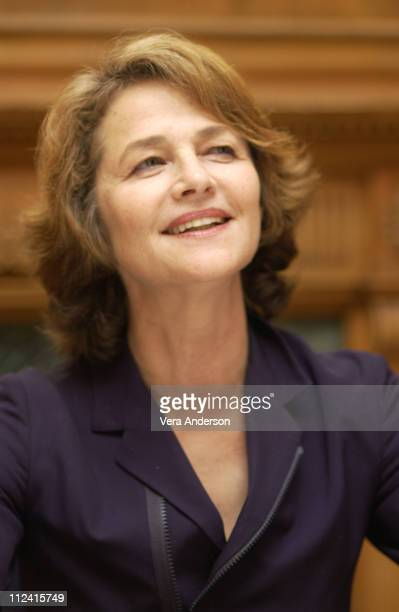 Charlotte Rampling during 'Swimming Pool' Press Conference with Charlotte Rampling and Francois Ozon at The Dorchester Hotel in London Great Britain
