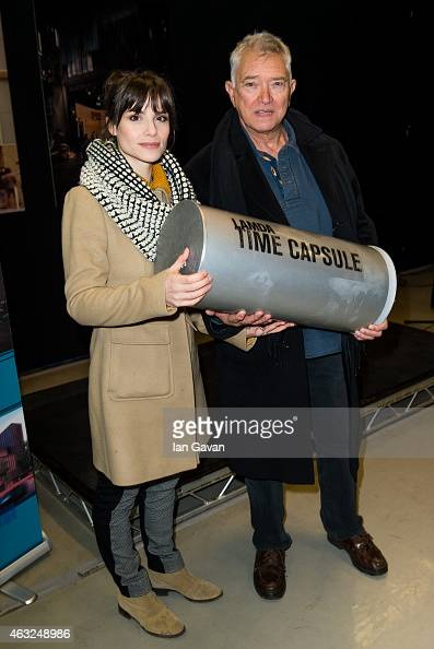 Charlotte Riley and Martin Shaw attend a photocall for the ground breaking of LAMDA's new building at LAMDA on February 12 2015 in London England