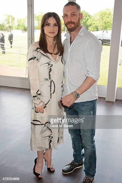 Charlotte Riley and Tom Hardy attend day one of the Audi Polo Challenge at Coworth Park on May 30 2015 in London England