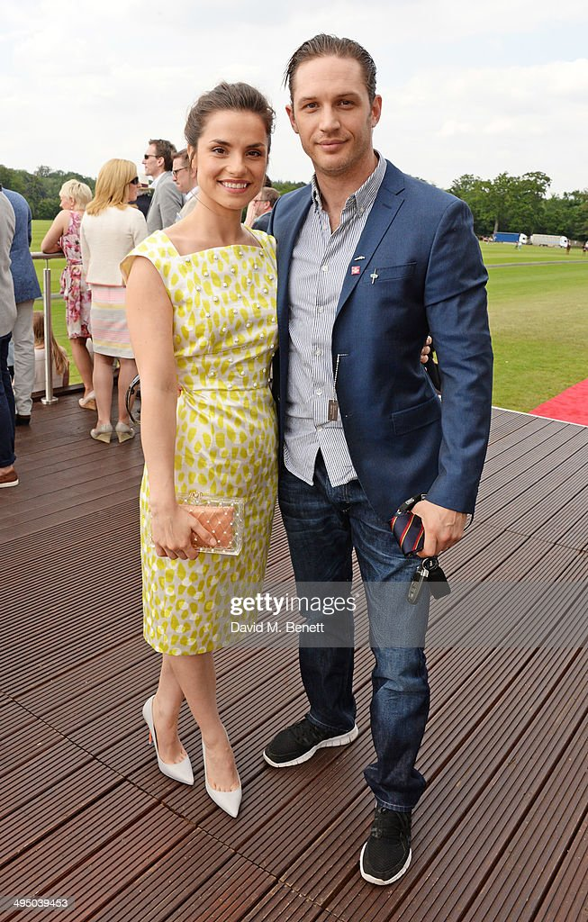 Charlotte Riley (L) and Tom Hardy attend day two of the Audi Polo Challenge at Coworth Park Polo Club on June 1, 2014 in Ascot, England.