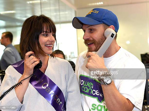 Charlotte Riley and Tom Hardy attend the annual BGC Global Charity Day at BGC Partners on September 11 2015 in London England