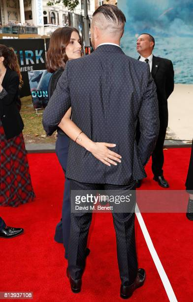 Charlotte Riley and Tom Hardy attend the World Premiere of 'Dunkirk' at Odeon Leicester Square on July 13 2017 in London England
