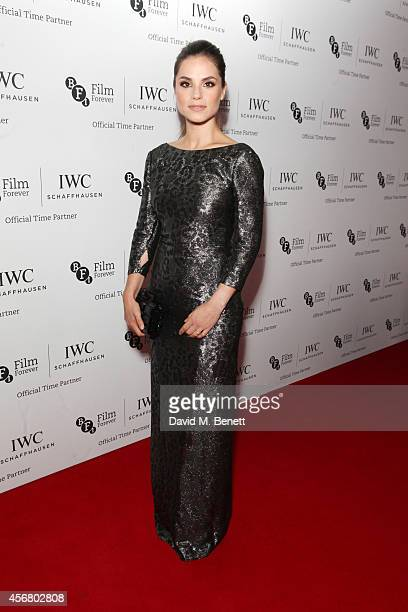 Charlotte Riley attends the BFI London Film Festival IWC Gala Dinner in honour of the BFI at Battersea Evolution Marquee on October 7 2014 in London...