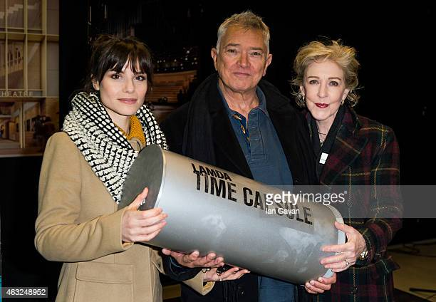 Charlotte Riley Martin Shaw and Patricia Hodge attend a photocall for the ground breaking of LAMDA's new building at LAMDA on February 12 2015 in...