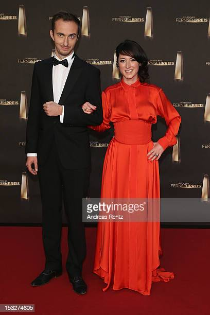 Charlotte Roch and Jan Boehmermann arrive for the German TV Award 2012 at Coloneum on October 2 2012 in Cologne Germany