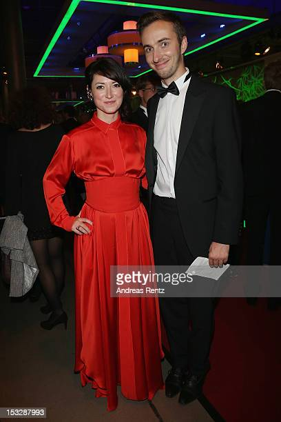 Charlotte Roch and Jan Boehmermann attend the German TV Award patzy 2012 at Coloneum on October 2 2012 in Cologne Germany