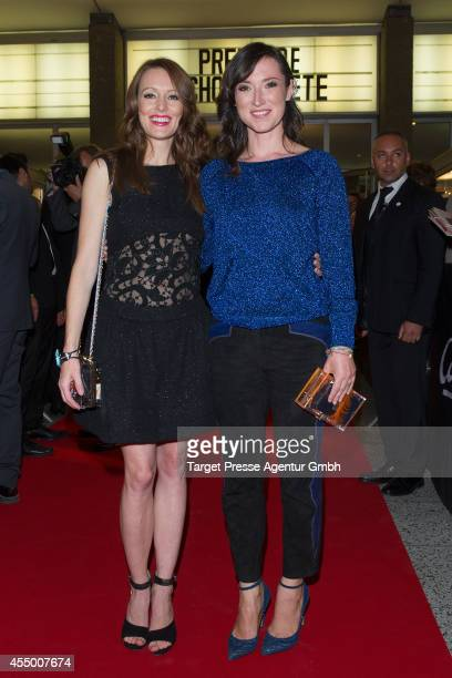 Charlotte Roche and Lavinia Wilson attend the Berlin premiere of the film 'Schossgebete' at Kino International on September 8 2014 in Berlin Germany