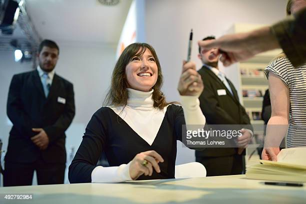 Charlotte Roche pictured at the the 2015 Frankfurt Book Fair on October 15 2015 in Frankfurt am Main Germany The 2015 fair which is among the world's...
