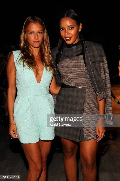 Charlotte Ronson and Angela Simmons attend the Charlotte Ronson fashion show during MercedesBenz Fashion Week Spring 2015 at The Pavilion at Lincoln...
