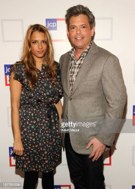 Charlotte Ronson and jcpenney President Michael Francis attend the jcpenney launch event at Pier 57 on January 25 2012 in New York City