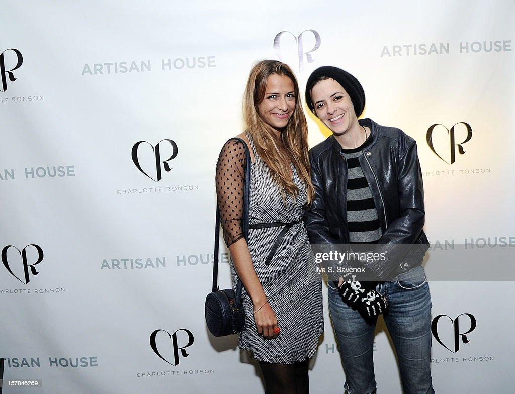 Charlotte Ronson and Samantha Ronson attend Charlotte Ronson + Artisan House Host Spring/Summer 2013 Handbag Preview on December 6, 2012 in New York City.
