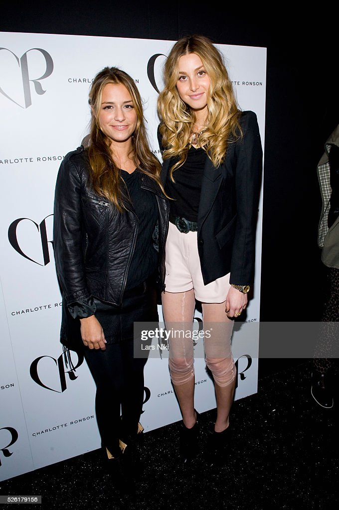 Charlotte Ronson and Whitney Port backstage at the 'Charlotte Ronson' fashion show at Bryant Park during Mercedes Benz fashion week in New York City