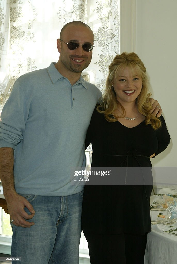 Charlotte Ross and husband Michael Goldman during Charlotte Ross' Baby Shower at Private Home in Los Angeles, California, United States.