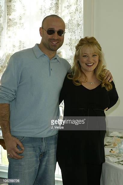 Charlotte Ross and husband Michael Goldman during Charlotte Ross' Baby Shower at Private Home in Los Angeles California United States