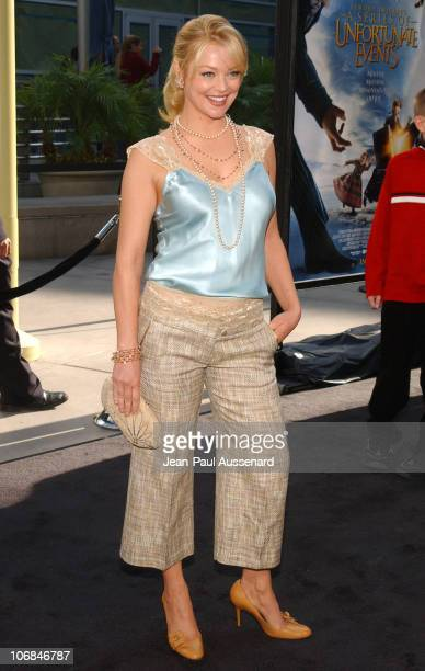 Charlotte Ross during 'Lemony Snicket's A Series of Unfortunate Events' Los Angeles Premiere Arrivals at Cinerama Dome in Hollywood California United...