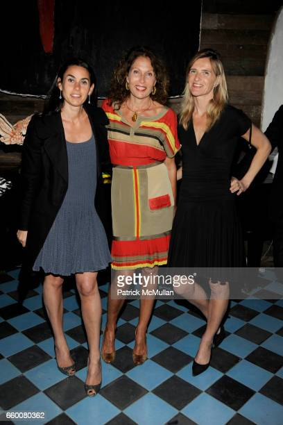 Charlotte Sarkozy Jacqueline Schnabel and Christine Dutreil attend Dom Perignon and Vito Schnabel dinner in celebration of Terence Koh's book...