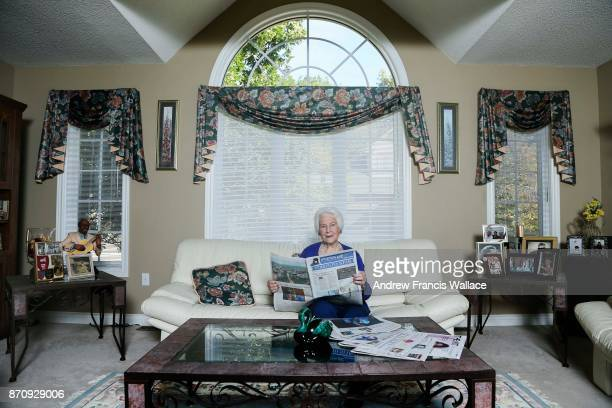 TORONTO ON OCTOBER 19 Charlotte Sterks poses at her Burlington home October 19 2017 Sterks a very vibrant grandmother has subscribed to the Star for...