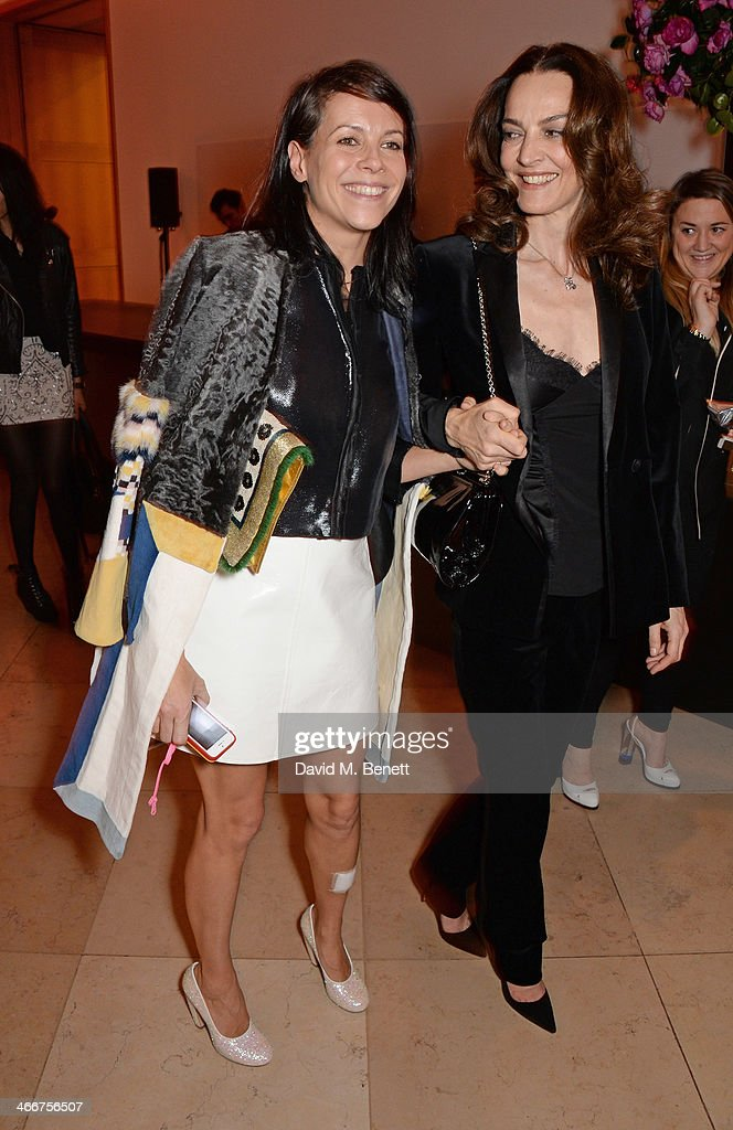 Charlotte Stockdale and Catherine Bailey attend a private view of Bailey's Stardust a exhibition of images by David Bailey supported by Hugo Boss at...