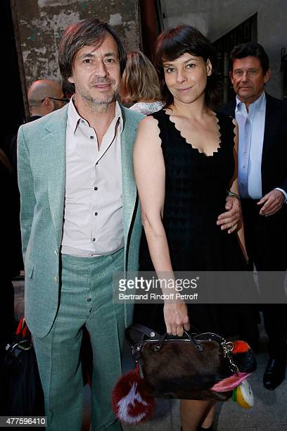 Charlotte Stockdale and her husband Marc Newson attend the 'Alaia' Azzedine Alaia Perfum Launch Party on May 21 2015 in Paris France