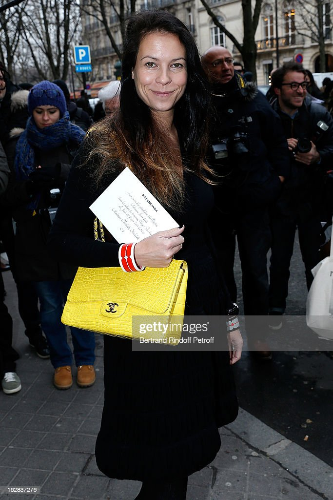 Charlotte Stockdale attends the Balenciaga Fall/Winter 2013 Ready-to-Wear show as part of Paris Fashion Week on February 28, 2013 in Paris, France.