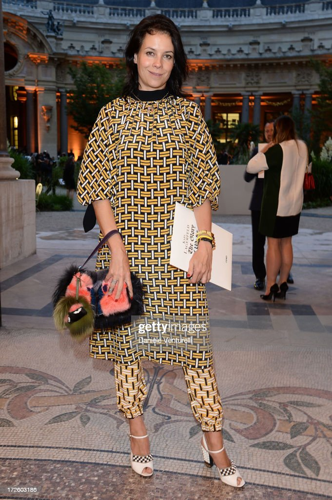 Charlotte Stockdale attends 'The Glory Of Water' Karl Lagerfeld's Exhibition Preview on July 3, 2013 in Paris, France.