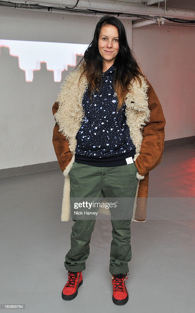 Charlotte Stockdale attends the launch of Dinos Chapman's album 'Luftbobler' at The Vinyl Factory Gallery on February 27, 2013 in London, England.
