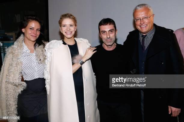 Charlotte Stockdale Fashion Designer Giambattista Valli Model Elena Perminova and her husband owner of newspaper 'Evening Standard' Alexander Lebedev...