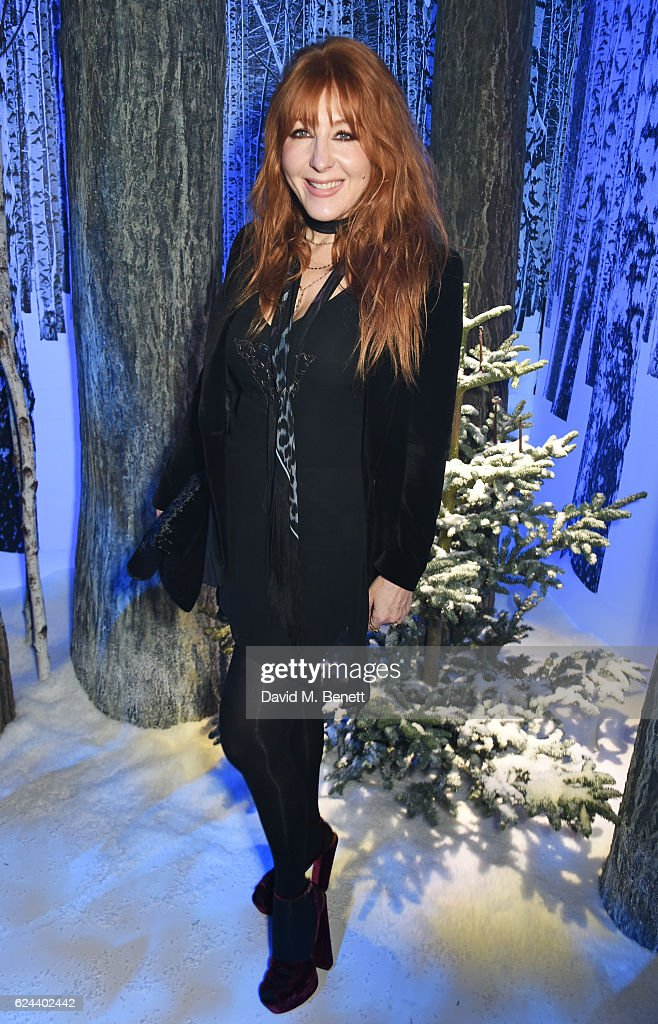 Charlotte Tilbury attends Claridge's Christmas Tree 2016 Party, with tree designed by Sir Jony Ive and Marc Newson, at Claridge's Hotel on November 19, 2016 in London, England.