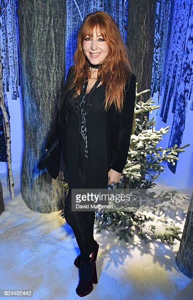 Charlotte Tilbury attends Claridge's Christmas Tree 2016 Party with tree designed by Sir Jony Ive and Marc Newson at Claridge's Hotel on November 19...