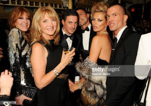 Charlotte Tilbury Linda Moss Dave Gardner Baillie Walsh Kate Moss and guest attend Fran Cutler's surprise birthday party supported by ABSOLUT Elyx at...