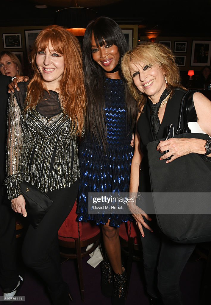 Charlotte Tilbury, Naomi Campbell and Chrissie Hynde attend 'Hoping's Greatest Hits', the 10th anniversary of The Hoping Foundation's fundraising event for Palestinian refugee children hosted by Bella Freud and Karma Nabulsi, at Ronnie Scott's on June 16, 2016 in London, England.