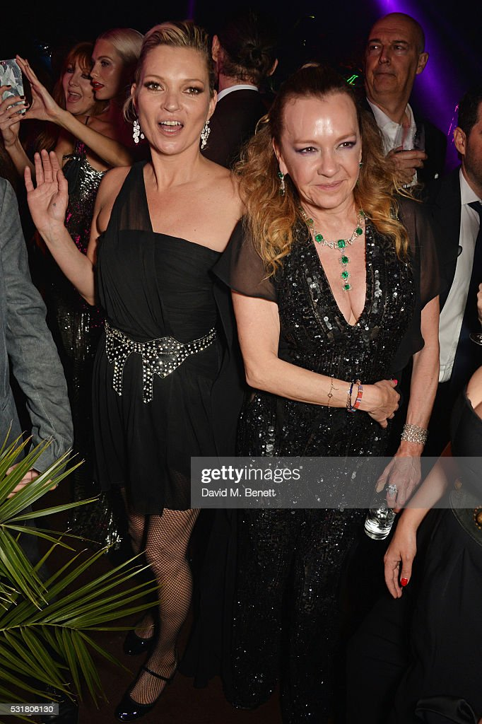 Charlotte Tilbury Poppy Delevinge Kate Moss and Caroline Scheufele Artistic Director and CoPresident of Chopard attend the Chopard Wild Party during...
